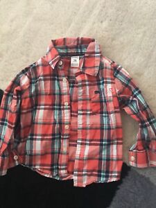 Plaid collar shirt size 18 months