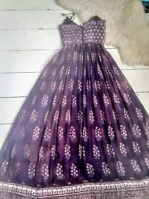 Vintage Indian Cotton Boho Phool Style Summer Dress (sundamaged)  XS