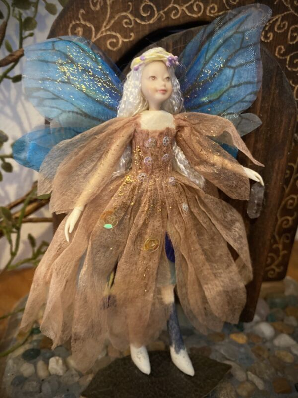 "Poseable Handmade Fairy Collectible Doll  ""Misty"""