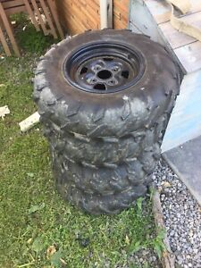Yamaha grizzly take off stock wheel set