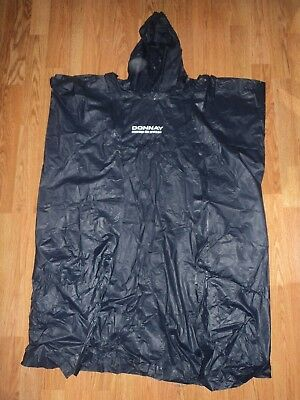 DONNAY DARK BLUE RAIN PONCHO ADULT SIZE S/M, used for sale  London