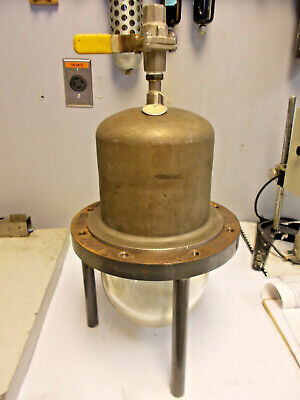 Glass And Stainless Steel Laboratory Vacuum Bell Jar 20 Overall Height