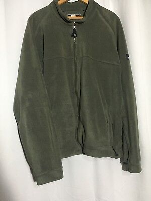 Used, Quechua Mens Zip Up Polyester Jacket Coat Olive Green Size XXL for sale  Shipping to India