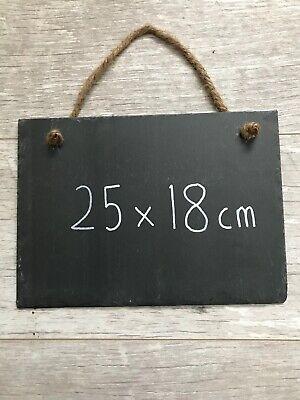Slate Chalkboard Memo Board Note Board Black Board Blank Hanging Slate Signs (Blank Chalkboard Signs)