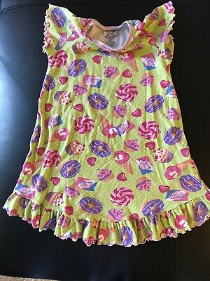 Sarahs Girls Pajamas Bubble Gum Lollipops Ice Cream Cones Green Pink 5