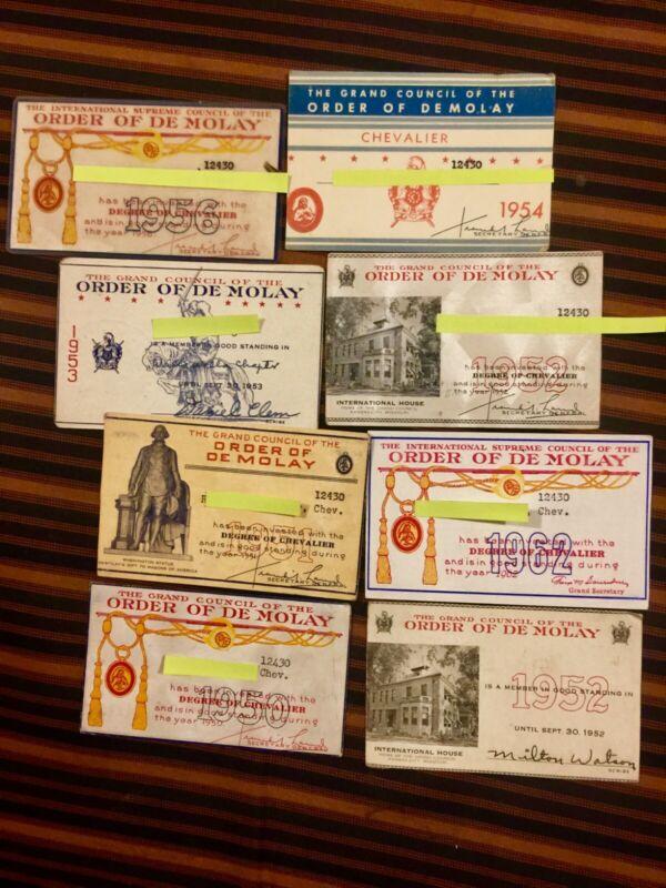 International supreme grand council order of demolay 1950 cards elks shriners