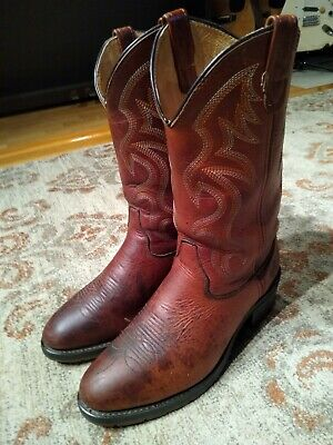 DOUBLE H AEROGLIDE 7 BROWN LEATHER ROUND TOE COWBOY WORK BOOTS #1519 MEN'S 10EE