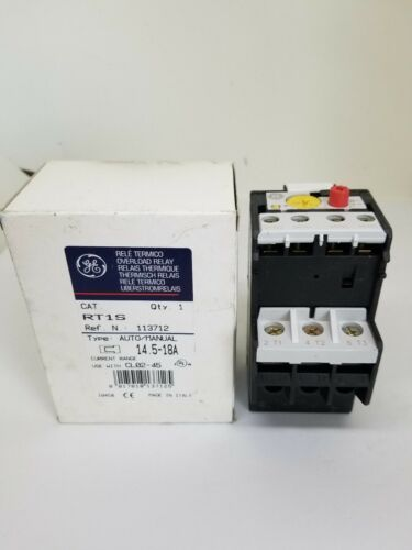 NEW General Electric GE RT1S Overload Relay CL02, CL25, CL04, CL45 Contactors