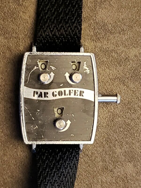 Awesome Vintage Par Golfer wrist Manual Stroke Counter made in Hong Kong