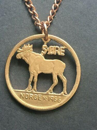 Norway Cut Coin Pendant Moose