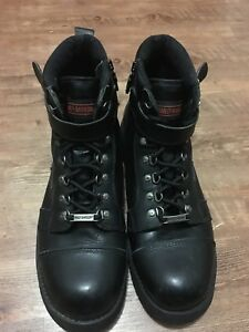Leather Harley  Davidson Motorcycle Boots(Size 12)