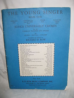 The Young Singer Book One/Saprano  By: Richard D. Row__1965