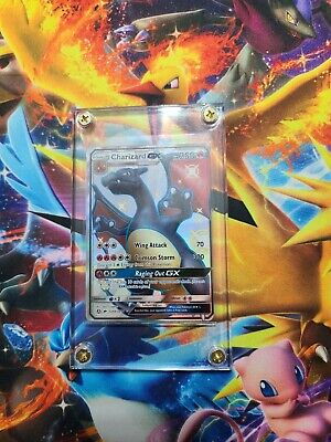 Pokemon Shiny Charizard GX SV49 Full Art Hidden Fates FRESH MINT