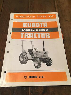 Kubota B8200 Illustarted Parts List Catalog