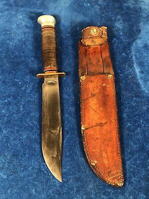 "Nice WW2 US Army Air Corp 6"" Knife w/ Sheath - Marbles #784"