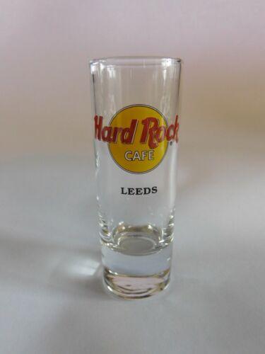 "Hard Rock Cafe LEEDS Classic Cordial City HRC Logo 4"" Shot Glass Glassware"