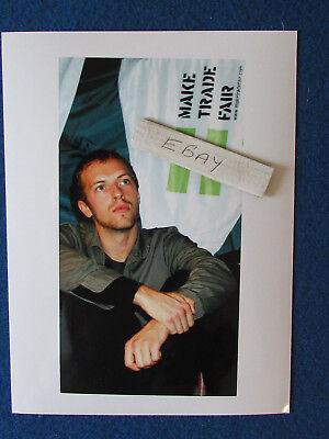 "Original Press Photo - 8""x6"" - Coldplay - Chris Martin - 2002 - B"