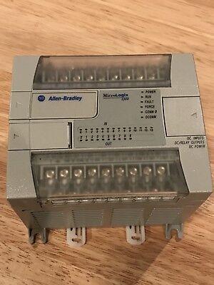 Allen Bradley Micrologix 1200 Plc Controller 1762-l24bxb Ser C Frn 8 Wcable