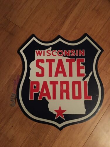 WISCONSIN STATE PATROL  POLICE ON FOAM MAT