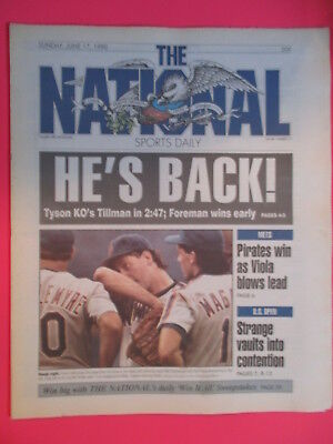 The National Sports Daily Newspaper Mike Tyson Is Back Kos Tillman 6 17 1990