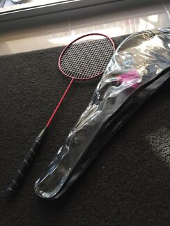 Badminton racquet sportscraft badminton racket with case pu cbd