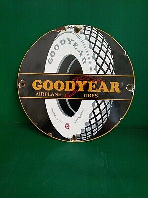 1950'S VINTAGE OLD GOODYEAR TIRES PORCELAIN SIGN! LAST CHANCE BLOW OUT!!!