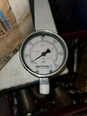 Enerpac Model G2517l 2-12 General Purpose Pressure Gauge 0 To 6000 Psi