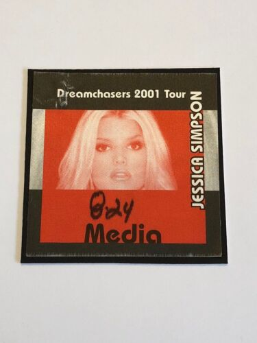Jessica Simpson Dreamchasers 2001 Tour Concert Media Pass