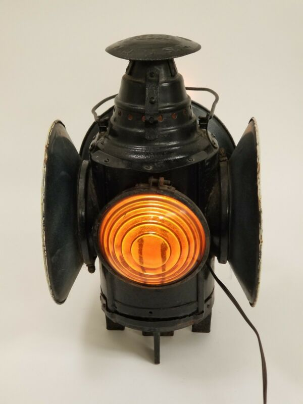 Dressel Arlington, NJ Railroad Switch Lantern ~ Electrified w/ Kerosene Canister