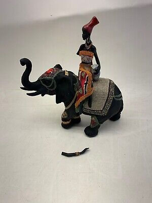 Used, 1pce Black African Lady Riding Elephant Statue 10.5 inches for sale  Shipping to Nigeria