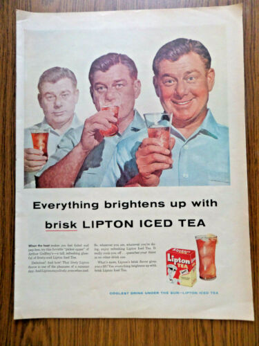 1956 Lipton Tea Ad  Hollywood Movie Star Arthur Godfrey