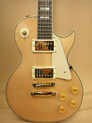 Haze E-238A/N Les Paul Custom Guitar Flame Maple-Mahogany + Gig Bag