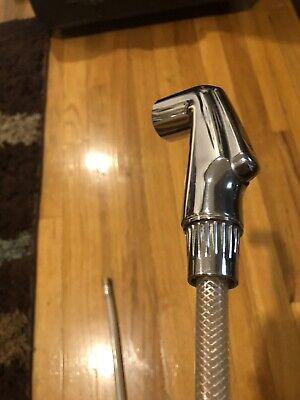 Kohler Kitchen Faucet Pull Out Side Spray with Hose Brushed Nickel K-10413