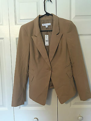 New York and Company Stretch beige button suit jacket 2 NWT