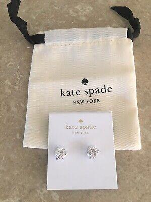 KATE SPADE  Crystal Stud Earrings & Pouch -BNWT