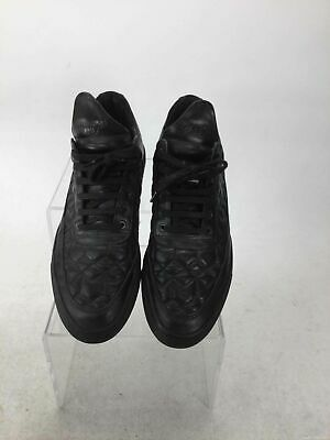 Filling Pieces Black Quilted Leather Sneakers 42