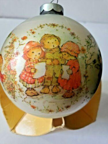 Hallmark Tree Trimmer Ornament Christmas 1974 Mercury Glass Ball Children Sing