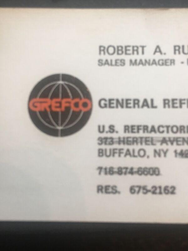 General Refractories Co. Buffalo NY Vtg Business Card Robert Rucker