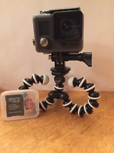 Gopro hero+lcd and a 64gb micro sd