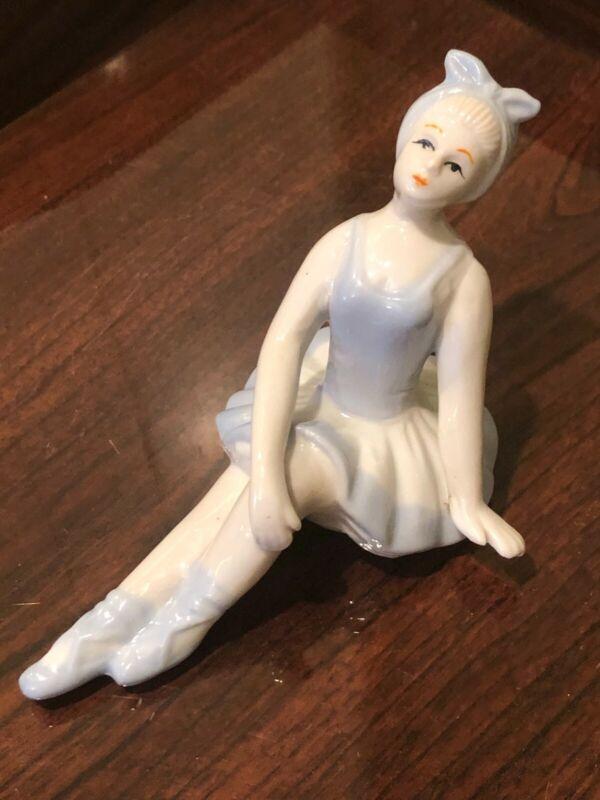Vintage Porcelain Sitting Ballerina Figurine