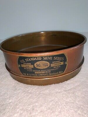 ANTIQUE US STANDARD SIEVE NO. 100, THE W. S. TYLER COMPANY