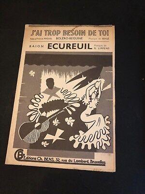 Partition - Musique  - J'ai trop besoin de toi - Ecureuil -  P4