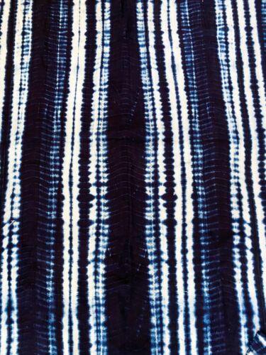 """Superb Vtg  Mali Indigo Mud Cloth Textile 37"""" by 68"""""""