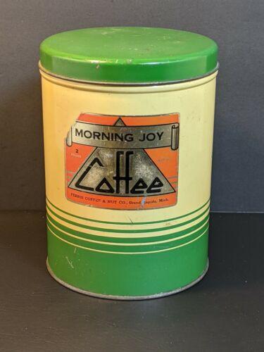 VINTAGE MORNING JOY 2 POUND COFFEE CAN FERRIS COFFEE & NUT CO.