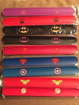 Slap Bracelets Kids Birthday Party Supplies Superhero Bracelet Wristband 9 Pack