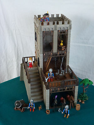 Playmobil Festung Turm Ritterburg Ritter Kanone Erweiterung Burg 3666 (928)