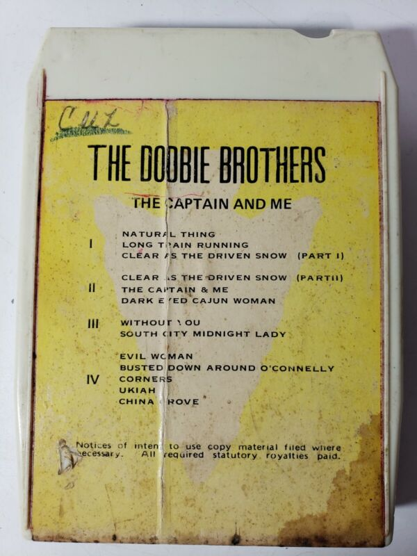 The Doobie Brothers The Captain and Me 8 Track Tape