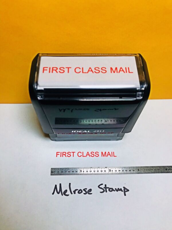 First Class Mail Self Inking Rubber Stamp Red Ink Ideal 4913