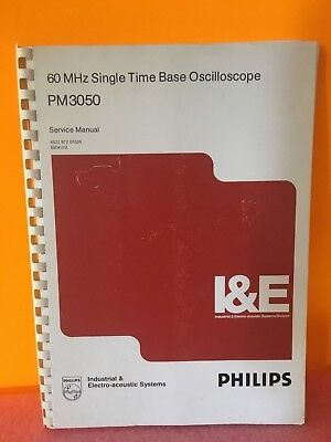 Philips 60 Mhz Single Time Base Oscilloscope Service Manual