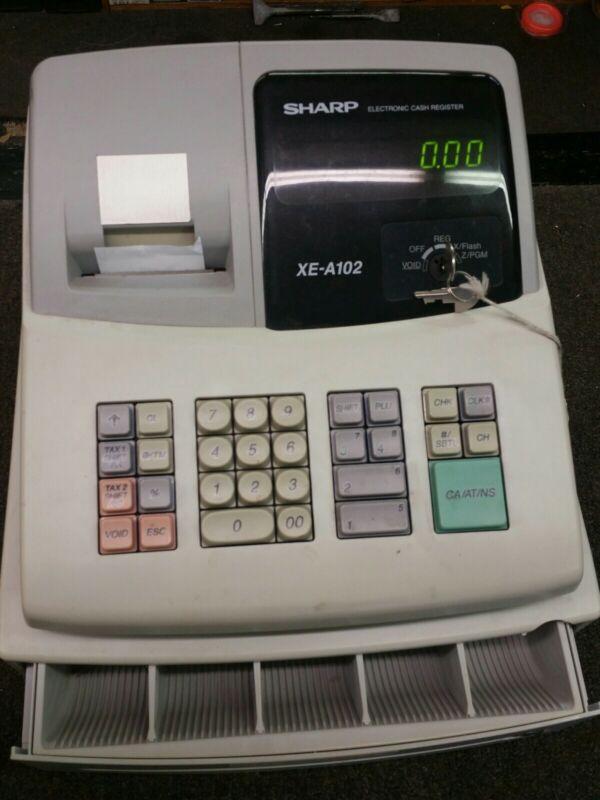 SHARP Electronic Cash Register Model XE-A102 Cash Drawer